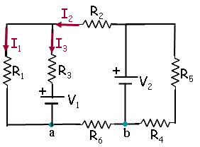 solved circuit with two batteries and six resistors 1 2 3 rh chegg com